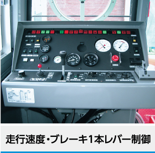 走行速度・ブレーキ1本レバー制御